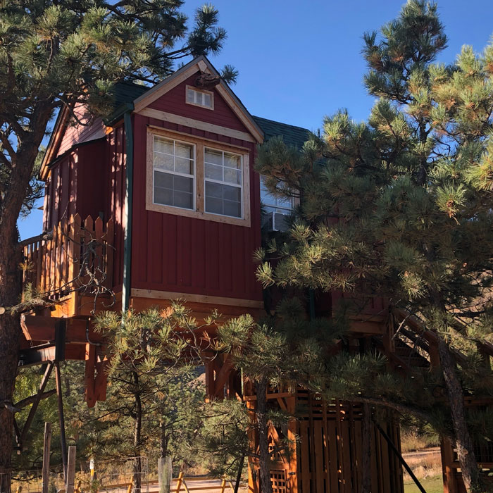 Visit the Little Red Treehouse